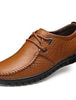 Men's Shoes Outdoor / Office & Career Leather Oxfords Black / Brown / Orange