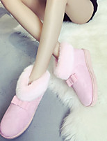 Women's New Arrival Dunk Low Bowknot Shoes Flat Heel Snow Boots / Round Toe Boots Casual Black / Yellow / Pink