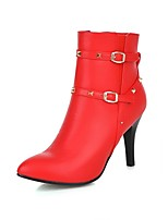 Women's Shoes Stiletto Heel / Fashion Boots / Pointed Toe Boots Dress / Casual Black / Red