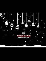 Christmas / Fashion / Cartoon / Holiday Wall Stickers Plane Wall Stickers Shopwindow stickers, PVC 100cm*72cm