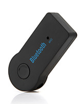 MOWTO Hands-free Universal 3.5mm Car Wireless Bluetooth Music Receiver Adapter with Mic Black