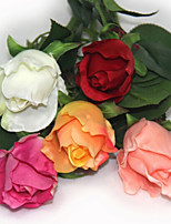 Short Single Head  Plastic Roses Artificial Flowers