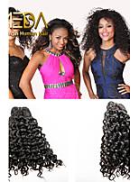 3pcs/Lot Unprocessed Virgin Peruvian Hair  Water Wave Human Hair Extensions Natural Black 8''-30'' Hair Weaves