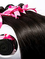 3pcs/Lot Brazilian Virgin Hair Silk Straight Human Hair Extensions Natural Black 8''-30'' Hair Weaves