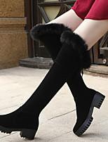Women's Shoes Sexy Hin Thin Slim Chunky Heel Comfort / Round Toe Boots Casual Black