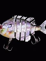 Poissons nageur/Leurre dur 14 g Once , 80 mm pouce 1 pcs Pêche en mer , Violet Plastique dur