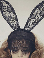 Rabbit Ear Shape Lace Headband for Holloween Party