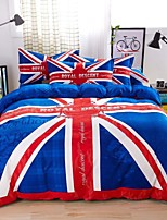 Red/Blue Americal Style Bedding Set Of 4pcs For Four Season Use