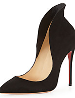 Women's Shoes Fleece Stiletto Heel Heels / Pointed Toe Heels Wedding / Party & Evening / Casual Black