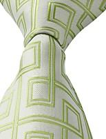 Beige Light Green Business Leisure Jacquard Men Tie Necktie