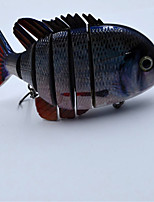4 Inch 3D Lifelike Eyes Crazy Panfish Series Multi Jointed Hard Fishing Lure Bait Swimbait with Treble Hook Pesca