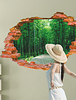 3D Wall Stickers Wall Decals Style Avenue Path Fashion Creative Personality PVC Wall Stickers