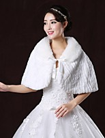 Wedding / Party/Evening Faux Fur Capelets Sleeveless Hoods & Ponchos