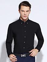 Shirts Long Sleeve Cotton Checkered / Gingham Black