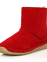 Women's Shoes Low Heel Round Toe Boots Casual Black / Green / Red