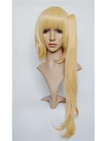 Lanting cos la realización del diablo Flandre escarlata oro escarlata larga cosplay del anime del partido peluca de pelo