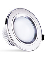 HRY® 3W 250LM Warm/Natural/Cool White Change Color LED Recessed Round Downlight Ceiling Light (220V)