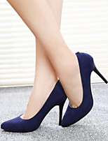 Women's Shoes Suede Stiletto Heel Pointed Toe Heels Office & Career / Party & Evening Black / Blue / Purple / Burgundy