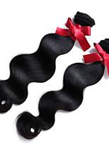 malaisie cheveux vierge 2pcs vague de corps humain cheveux de tissage / lot # couleur 1b corps non transformés cheveux d'onde haut grade