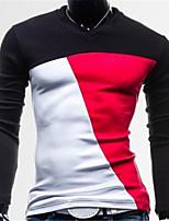 Men's Long Sleeve Polo , Organic Cotton Casual / Sport Plaids & Checks / Pure