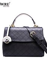 HOWRU ® Women 's PU Tote Bag/Single Shoulder Bag/Crossbody Bags-Black