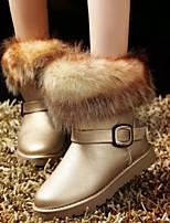 Zapatos de mujer - Tacón Bajo - Punta Redonda - Botas - Casual - Semicuero - Negro / Rosa / Blanco / Oro