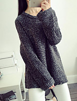 Women's Color Block New Arrival Loose Thicken Pullover , Casual Long Sleeve