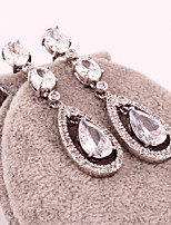 Gorgeous Alloy With Czech Rhinestones Teardrop Wedding Bridal Earrings Earrings More Colors (with Gift Box)