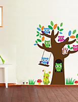 Wall Stickers Wall Decals Style Owl Tree Sugar PVC Wall Stickers