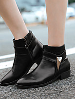 Women's Shoes Leatherette Low Heel Combat Boots /  Office & Career / Casual Black / Yellow / Red / Beige