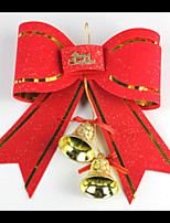 5PCS Christmas decorations PVC Bell Bow Tie