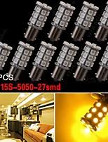 10x BAU15s 7507 PY21W 5050 27-SMD segnale del freno ambra / backup / coda / girata luci led