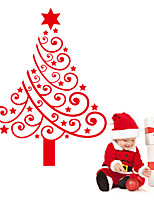 2015 New ZooYoo® Xmas33 Red Christmas Tree Wall Stickers