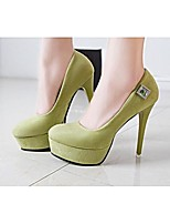 Women's Shoes Leather Stiletto Heel Heels Heels Wedding / Dress / Casual Black / Green / Red