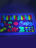 10/PCS Hot Sale Fluorescent Tattoo Handsome Multi-Style Temporary Tattoo For Fashion WST-145