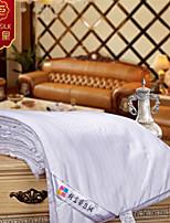 2015 nueva 100% diseño de rayas manta edredón de seda de seda del verano manta edredón blanco juego de cama