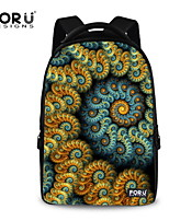 FOR U DESIGNS Unisex Colorful Picture Polyester Sports Laptop Backpacks