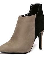 Women's Shoes Stiletto Heel Heels Boots Outdoor Black / Khaki
