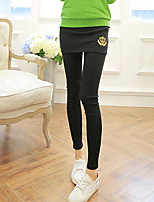 Women Solid Color Legging , Polyester Medium