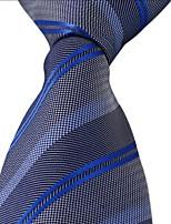 Purple Stripes Gray White Jacquard Men Leisure Necktie Tie