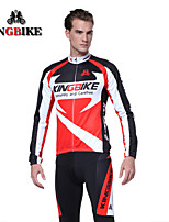 Long Sleeve Cycling Jersey And Bib Pants Sets Men Winter Thermal Fleece Cycling Clothing Sleeved Warm Winter