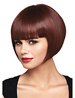 Capless Top Grade Synthetic Light  Short Straight Bobo Hairstyle Wig for Women