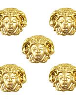 10pcs Medusa Image Egypt Theme 3D Gold Nail Art Alloy 7mm x 9mm