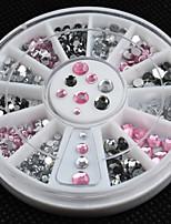 Manicure Diamond Drill Box Imitation White AB 12 Lattice Manicure Acrylic Drill Disc Fashion Nail Art Decorations