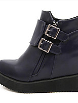 Women's Shoes Leatherette Flat Heel Pointed Toe Boots Casual Black