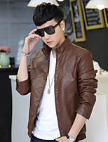 Man new winter leisure man leather jacket Fashionable city locomotive coat of cultivate one's morality