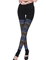 Women Print / Fleece Lined Legging , Polyester Thick