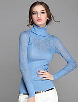 Women's Solid Blue / Black / Orange / Purple / Gray Pullover , Casual Long Sleeve