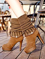 Women's Shoes Libo New Fashion Hot Sale Wedge Heel Fashion Boots / Comfort Boots Dress / Casual Black / Brown