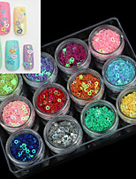 12 PCS  Nail DIY Hollow Sequins Nail Jewelry